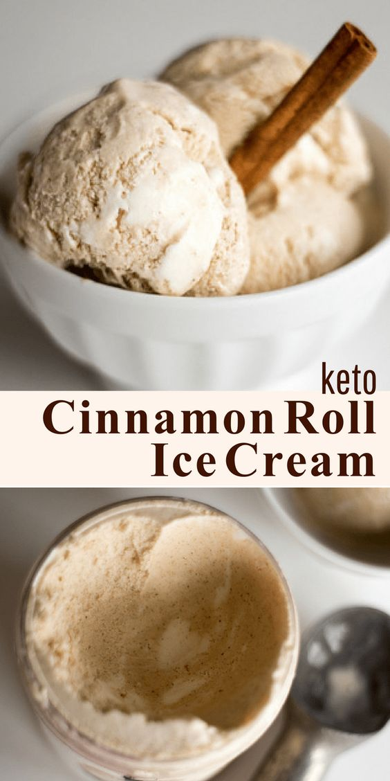 CINNAMON ROLL ICE CREAM W/ A CREAM CHEESE SWIRL