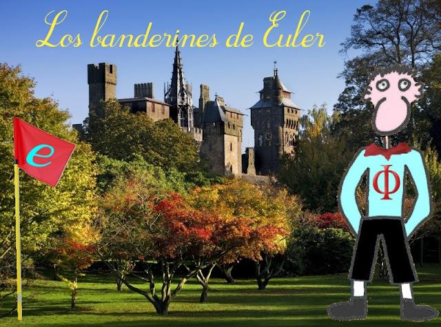 Pepe Vitruvio visitando el castillo de Cardiff tras haber resuelto el problema de los banderines de Euler