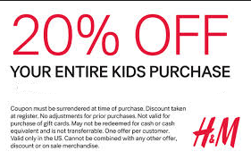 picture about H and M Printable Coupons named HM Printable Discount codes August 2015