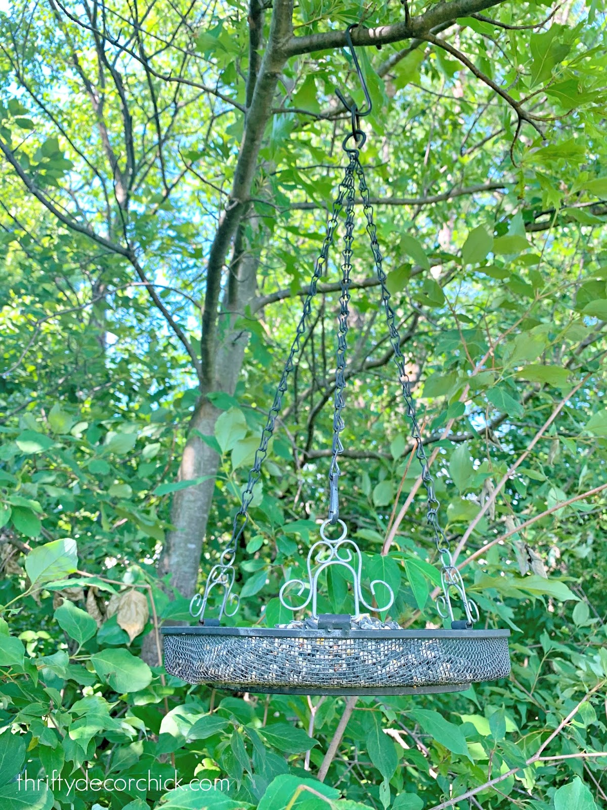 Easy fill hanging bird feeders