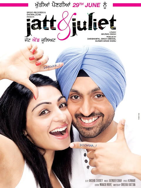 Jatt and Juliet - Latest HD Poster - Upcoming Punjabi Movie - Diljit & Neeru