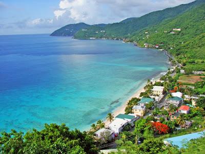 Paysage de Tortola : iles vierges britanniques