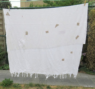 Blanket with patches on 1 side