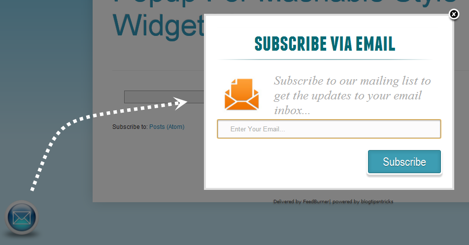 Email Subscription Popup View Full Size