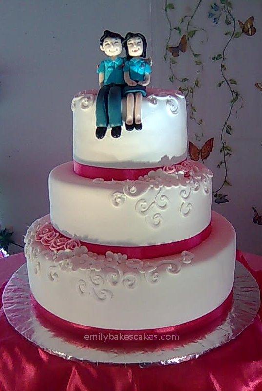 Emily Bakes Cakes Police Wedding Cake
