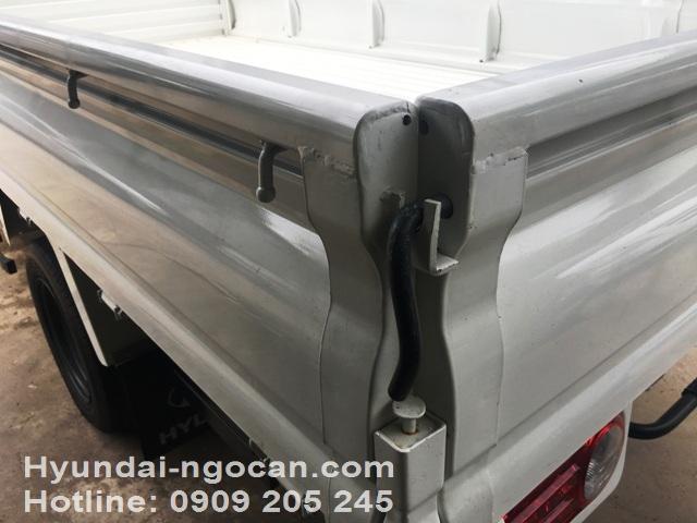 Video xe tải Hyundai 1 tấn H100 thùng lửng màu trắng bản ga điện IMG 3010