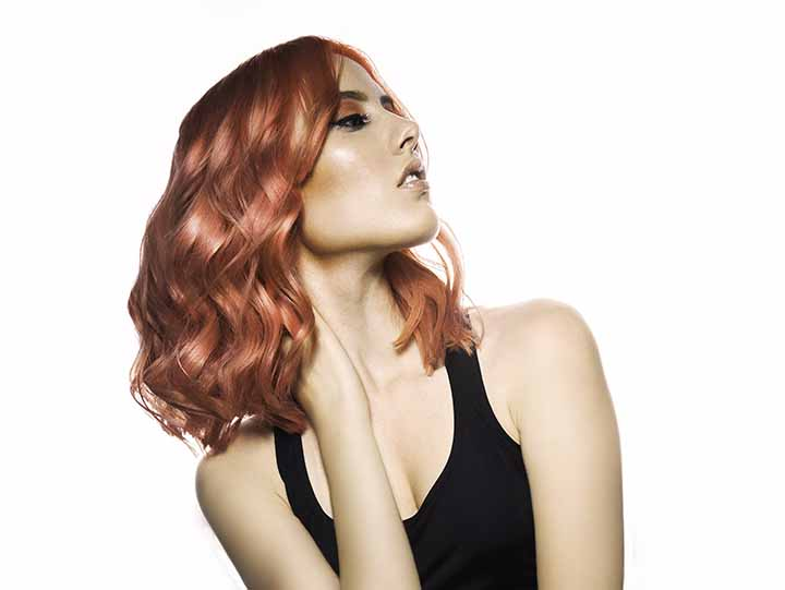 naranja cabello color coral 2020