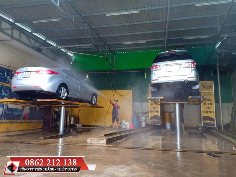 cầu nâng rửa xe, cầu 1 trụ rửa xe, cầu rửa xe 1 trụ, cầu rửa xe giá rẻ
