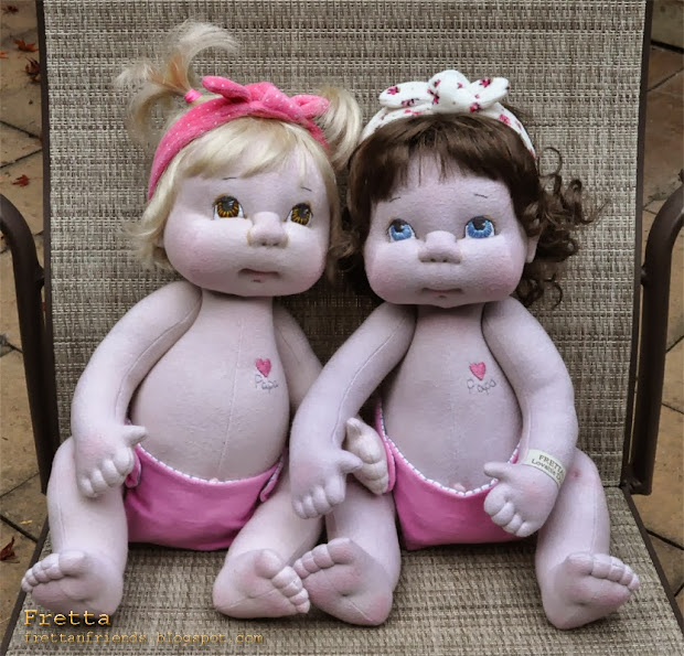 "Fretta Custom Dolls 19"" Life Size Jointed Baby Girls"