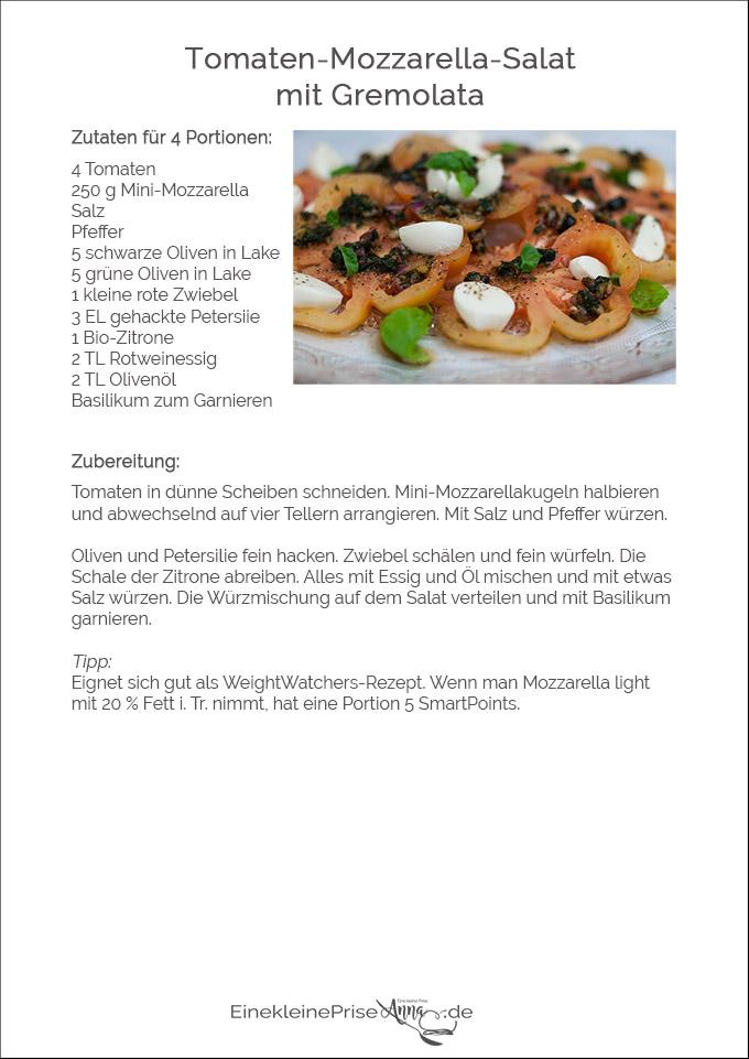 Tomaten-Mozzarella-Salat mit Gremolata Rezept