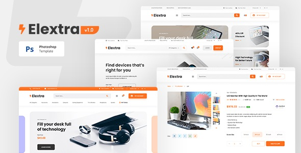 Electronic eCommerce PSD Template