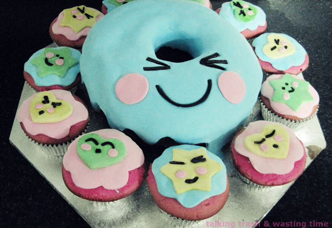 Kawaii Donut Birthday Cake