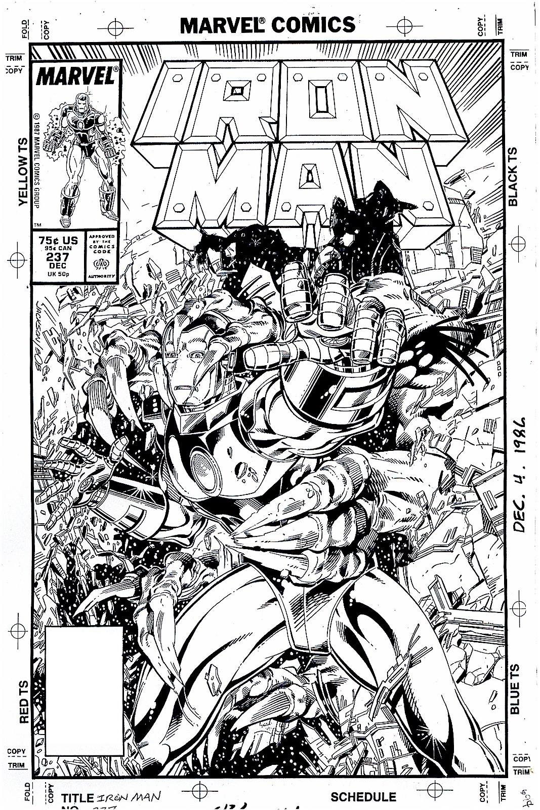 Marvel Comics of the 1980s: 1988 - Anatomy of a Cover - Iron Man ...