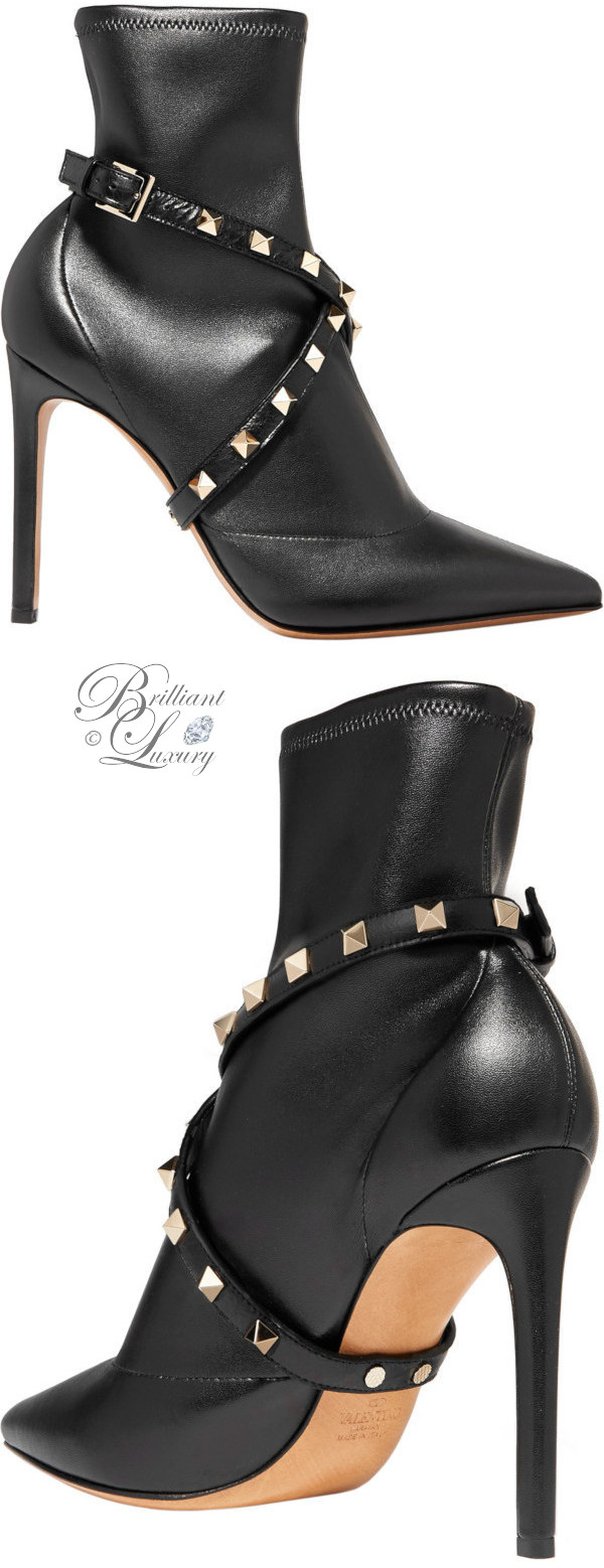 Brilliant Luxury ♦ Valentino Garavani Studwrap leather ankle boots