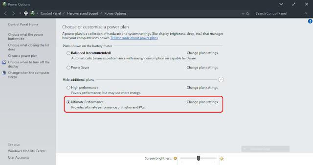 Mantap!!! Mode Ultimate Performance Kini Hadir Di Windows 10
