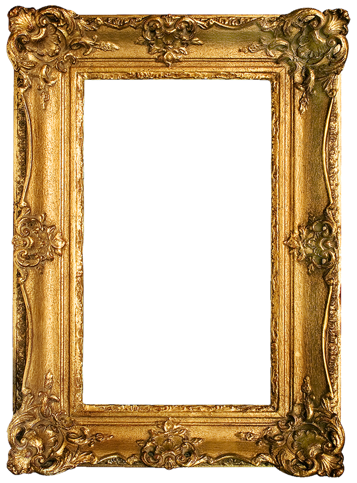 photograph relating to Printable Frame known as Traditional Gold Gilded Frames Totally free Printables!