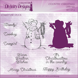 Divinity Designs LLC Country Christmas Stamp/Die Duos