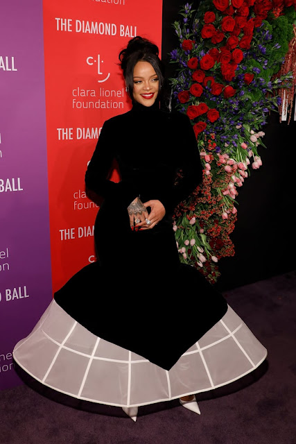 Rihanna Wears Givenchy Dress at Diamond Ball 2019