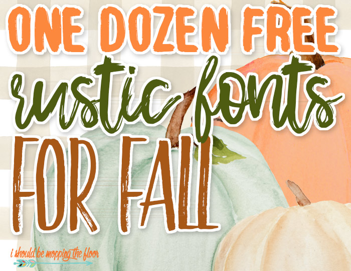 Rustic Fonts for Autumn