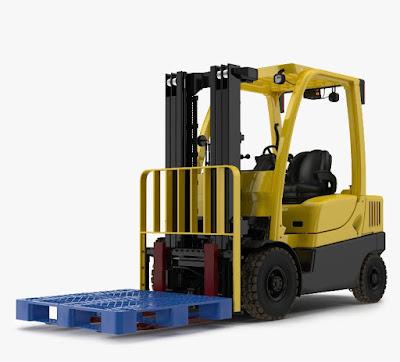 Forklift dan Pallet Plastik untuk Kebutuhan Logistik Pergudangan