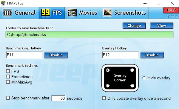Menampilkan FPS di PC FRAPS