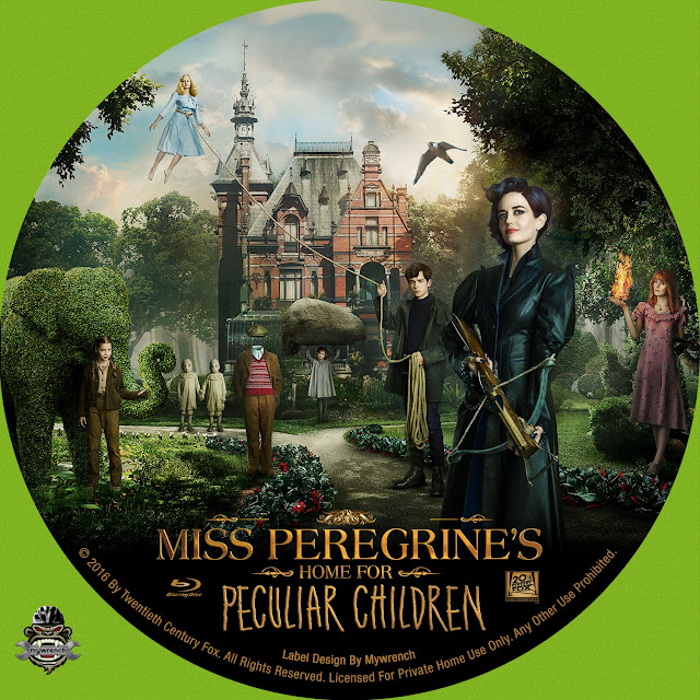 Miss Peregrines Home For Peculiar Children Bluray Label