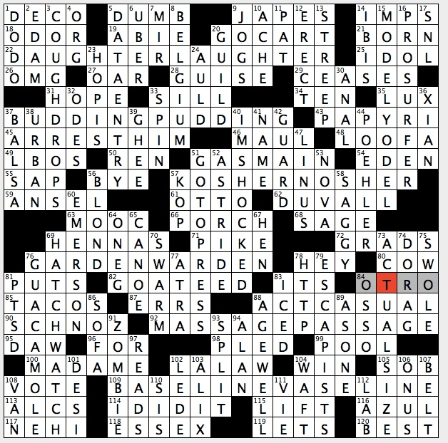 Rex Parker Does The Nyt Crossword Puzzle Acronym For Class Taught