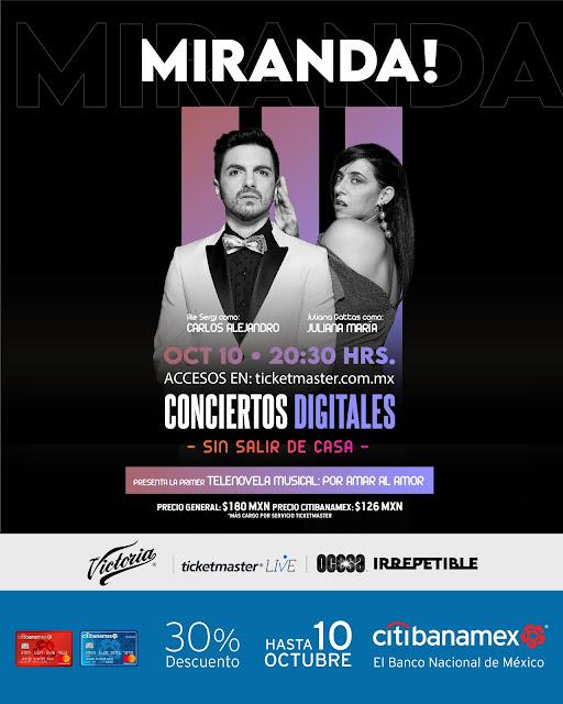 """Miranda! vuelve a los escenarios de  manera virtual con un show """"Irrepetible"""""""