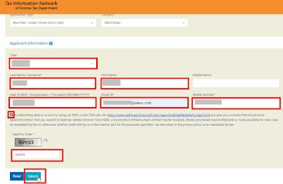 fill basic details like name, email, mobile number