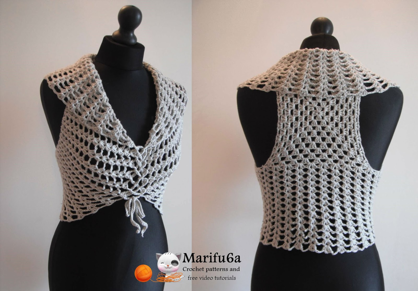 Free crochet patterns and video tutorials: How to crochet easy vest ...