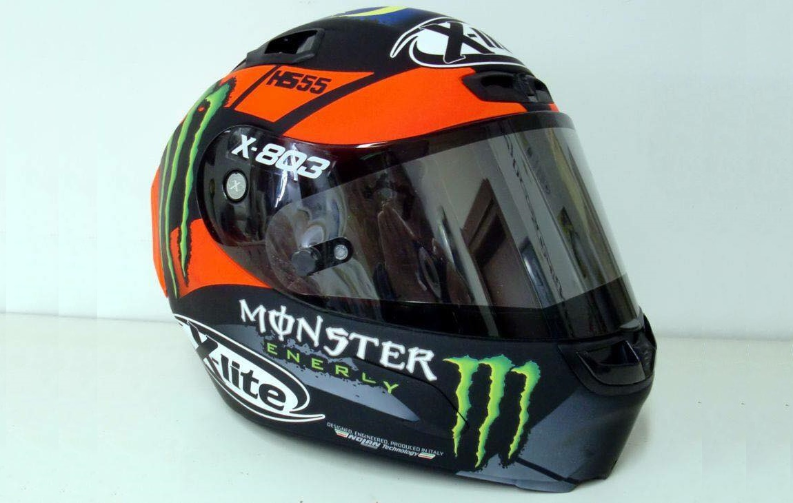 nolan x lite x 803 hafizh syahrin hs55 monster energy motogp helmet. Black Bedroom Furniture Sets. Home Design Ideas