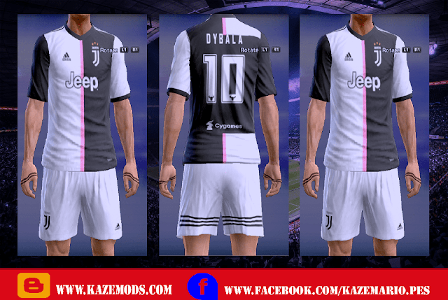 Juventus Home Kit Leaked 2019-2020 PES 2013