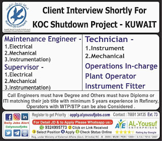 KOC Shutdown Project in Kuwait