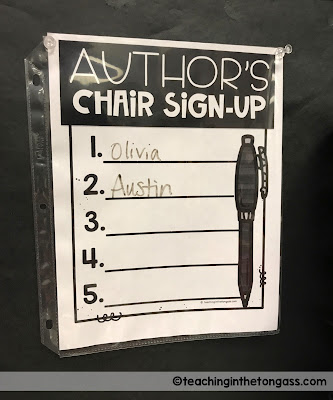 Author's Chair Sign Up