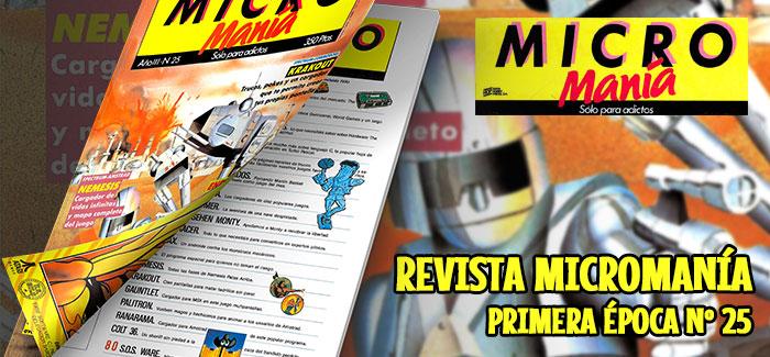 Revista Micromanía Primera época Nº 25 (1987)