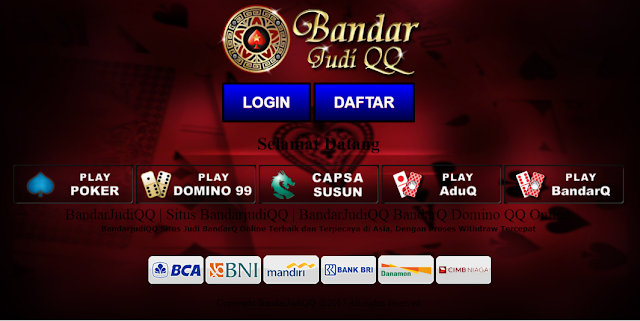 Bandarjudiqq Situs Agen Judi Poker Online Bandarq Domino 99