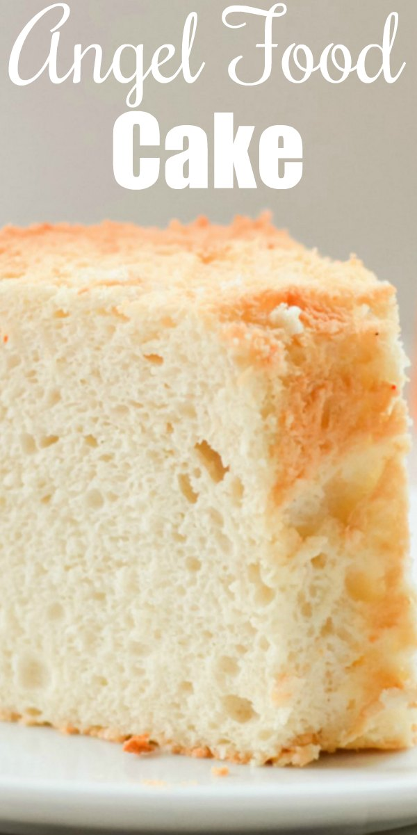 The BEST light airy Angel Food Cake recipe turns out perfect every time from Serena Bakes Simply From Scratch. Delicious with strawberries and whipped cream!