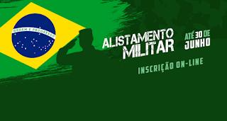 Inscrições abertas para o alistamento militar