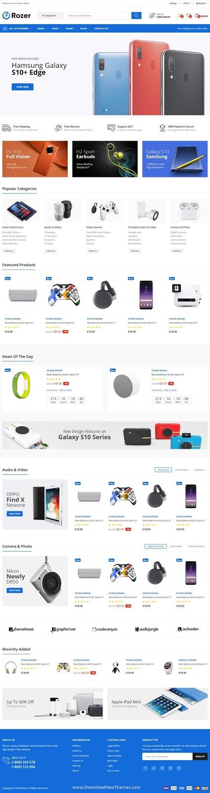 Electronics eCommerce HTML5 Template
