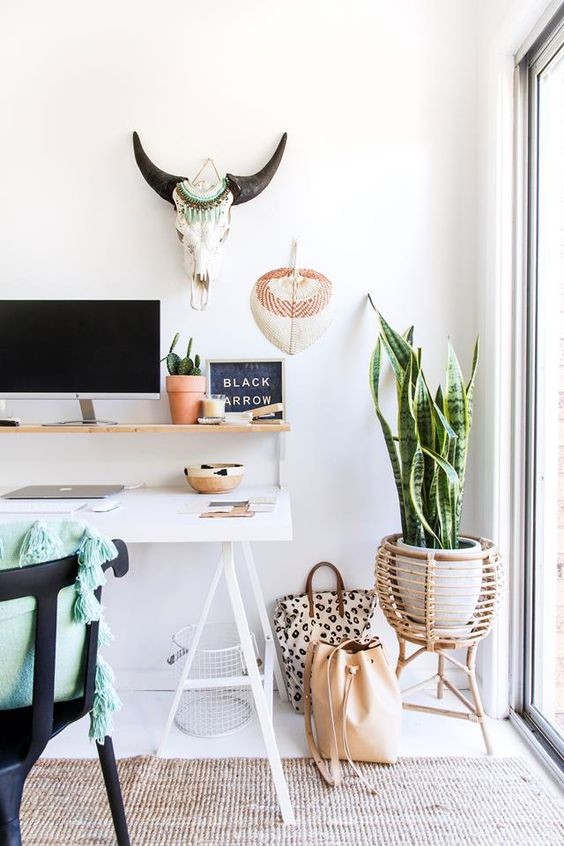 the cozy home workspace interior design