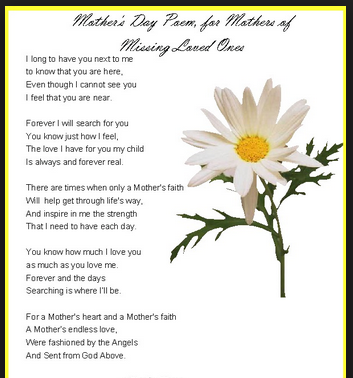 Wonderful Mothers Day Poems from Adopted Sons and Adopted Daughters 2014