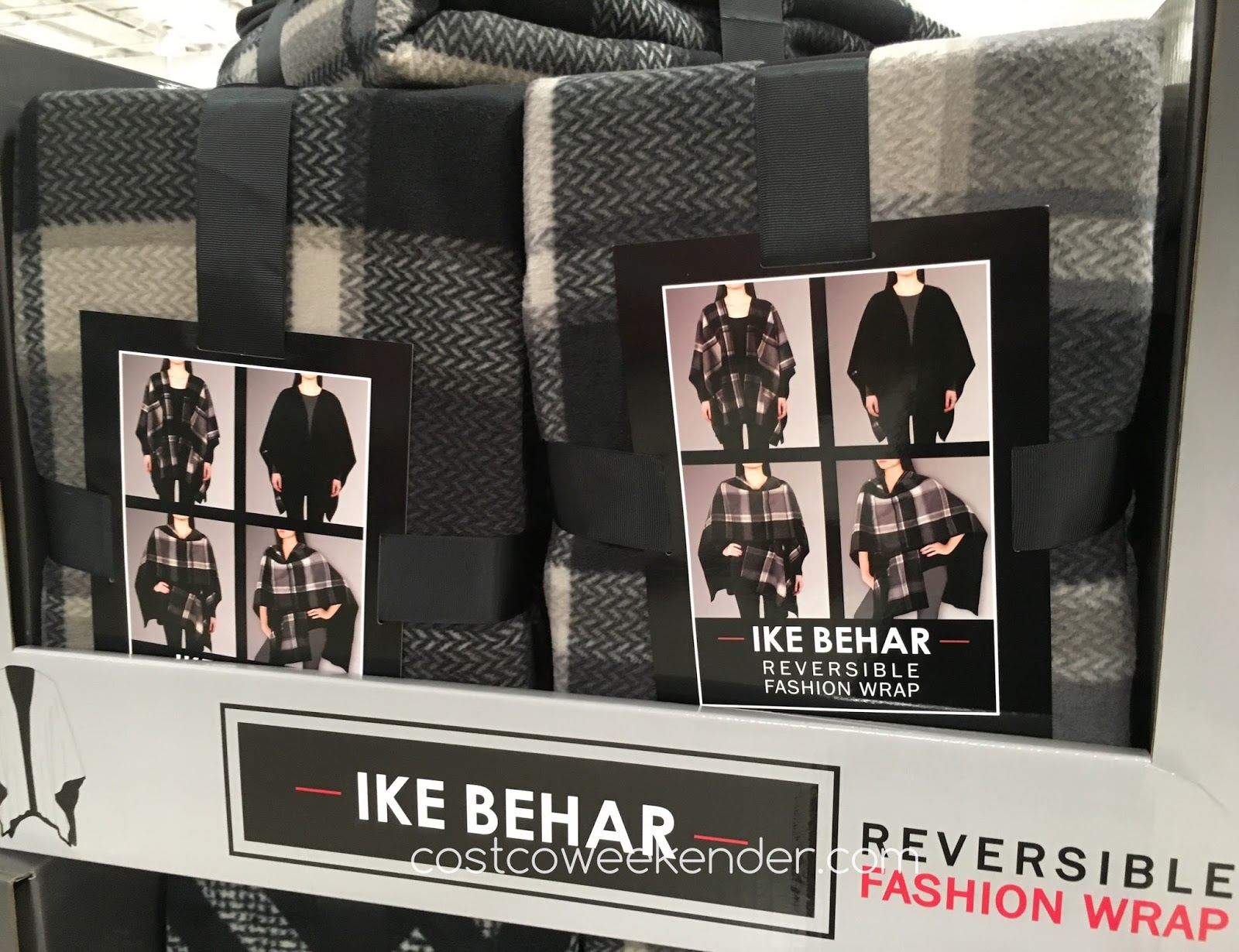Stay warm when the temperature drops with the Ike Behar Reversible Fashion Wrap