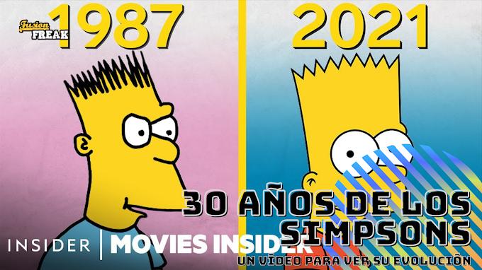 30 años de evolución animada de Los Simpsons en un vídeo