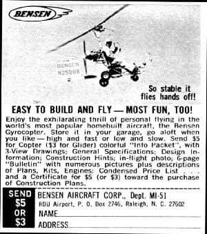 Bensen gyrocopter