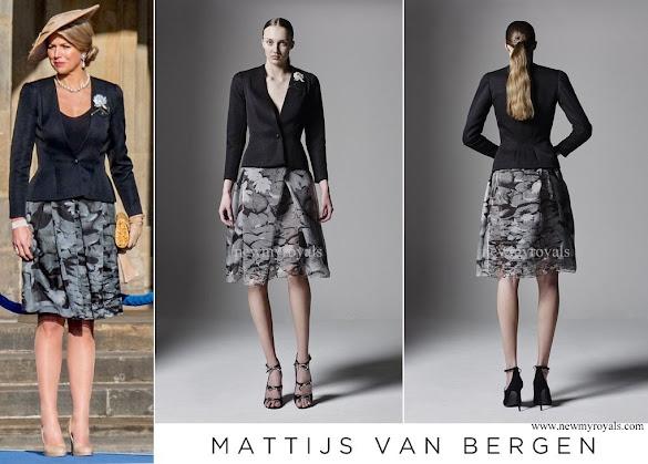 Queen Maxima wore Matthijs van Bergen Coppens Lelies Jacket & Skirt