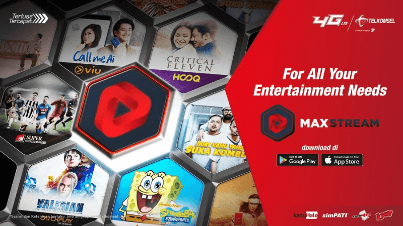 aplikasi maxstream tersedia di android dan ios