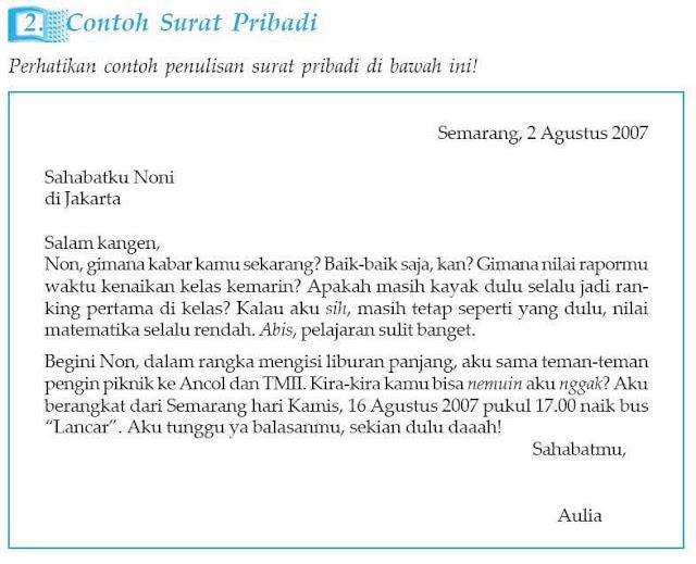 Contoh Surat Pribadi untuk Teman Sekelas (via: contohsurat.co)