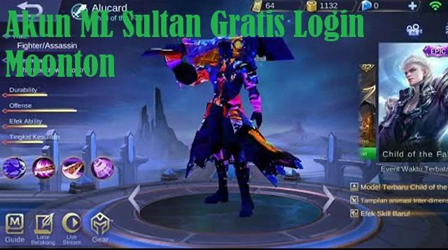 Akun ML Sultan Gratis Login Moonton