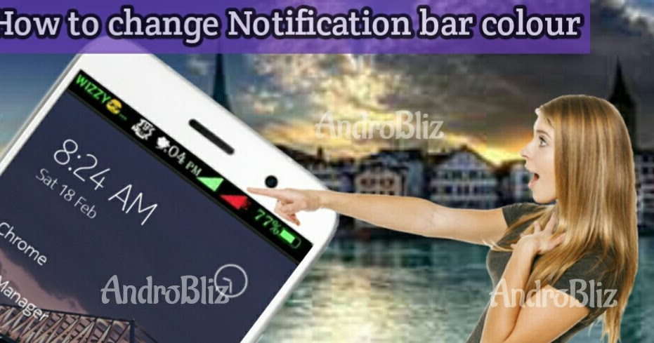 how to change notification panel colour
