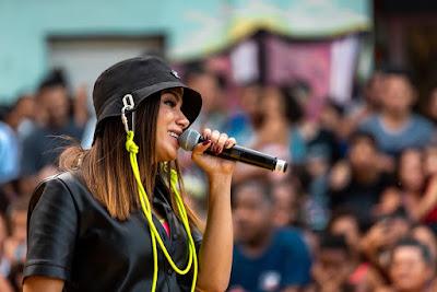 """Anitta cantou no """"Morro da Providência"""" — Foto: Fabiano Battaglin/Gshow"""